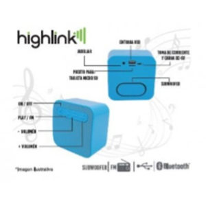 bocina bluetooth highlink